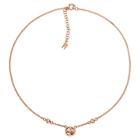 Folli Follie Heart4heart Win Necklace Rose Gold