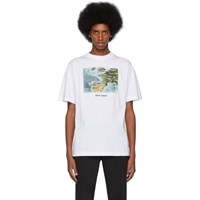 Palm Angels White Lost Flight T Shirt