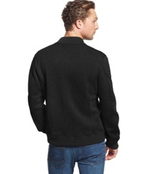 American Rag Heathered Bomber Jacket Deep Black