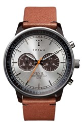 Men's Triwa 'Nevil' Chronograph Leather Strap 42Mm