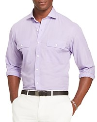 Polo Ralph Lauren Cotton Poplin Classic Fit Button Down Shirt Bali Purple