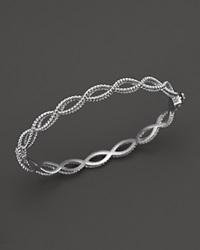 Roberto Coin 18K White Gold Single Row Twisted Bangle Bloomingdale's Exclusive