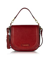 The Bridge Large Leather Messenger Bag W Tassels Cherry