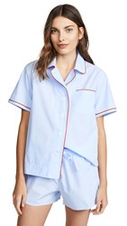 Sleepy Jones Corita Pj Top Blue