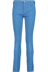 See By Chloe Cotton Corduroy Mid Rise Slim Fit Jeans Blue