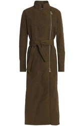 Osman Cotton Trench Coat Army Green