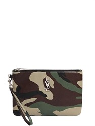 Saint Laurent Monogram Camouflage Leather Pouch