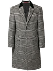 Loveless Single Breasted Checked Coat 60