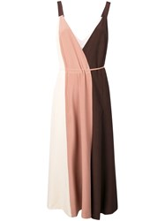 Alysi Colour Block Midi Dress Pink