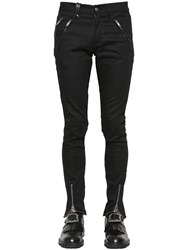 Alexander Mcqueen 16Cm Stretch Cotton Denim Biker Jeans