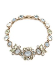 Marchesa Blue Crystal And Goldtone Bracelet