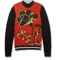 Mcq By Alexander Mcqueen Wool Jacquard Sweater Black