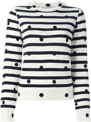 Comme Des Garcons Comme Des Garcons Polka Dot And Stripped Sweater White