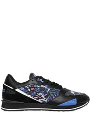 Kenzo Printed Nylon And Leather Running Sneakers