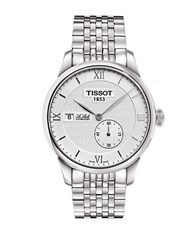 Tissot Mens Stainless Steel Le Locle Watch Silver