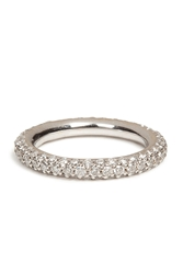 Carolina Bucci 18K White Gold 1885 Chunky Ring With Pave Diamonds
