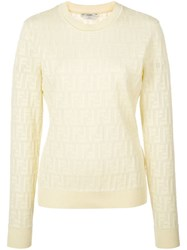 Fendi Monogram Jumper Yellow