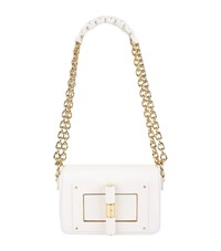 Tom Ford Small Natalia Leather Shoulder Bag White