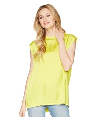 Kenneth Cole New York Circle Blouse Canary Yellow