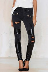 Nasty Gal Lovers Friends Control Panel Shredded Jeans
