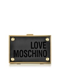 Love Moschino Transparent Plexiglass Signature Clutch Black