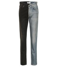 Balenciaga High Rise Straight Jeans Multicoloured