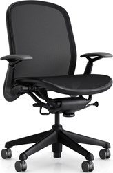 Knoll Chadwick Tilt Stop Control Office Chair With Adjustable Arms 05 Chadwick Fabric Black Soft Castors None Multicolor