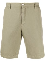 Massimo Alba Linen Blend Bermuda Shorts Green