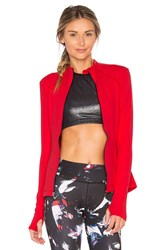 Beyond Yoga Fitted Mock Neck Jacket Red