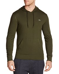 Lacoste Cotton Hoodie Baobab Green