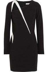 Thierry Mugler Cutout Two Tone Crepe Mini Dress Black