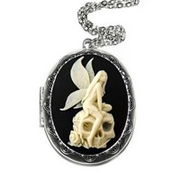 Couture By Lolita Angel Skull Locket Fairy Necklace