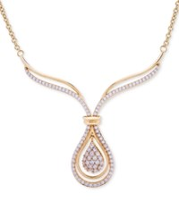 Wrapped In Love Diamond Teardrop Pendant Necklace 1 Ct. T.W. 14K Gold Yellow Gold