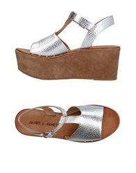 Janet And Janet Sandals Silver