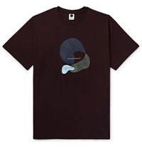 Nn.07 Slim Fit Printed Cotton And Wool Blend Jersey T Shirt Burgundy