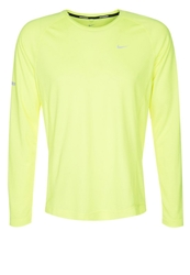 Nike Performance Miler Long Sleeved Top Volt Neon Yellow