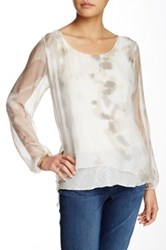 Luma Sequin Trim Hi Lo Blouse Multi
