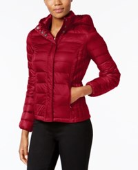 32 Degrees Packable Down Puffer Coat Carmine Red