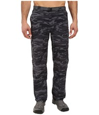 Columbia Silver Ridge Printed Cargo Pant Black Camo Men's Casual Pants