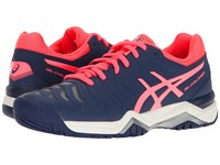 Asics Gel Challenger 11 Indigo Blue Diva Pink Silver Women's Tennis Shoes