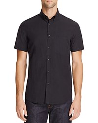 Steven Alan Solid Slim Fit Button Down Shirt Black