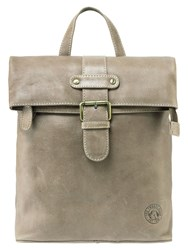 Tog 24 Oakley Leather Rucksack Taupe
