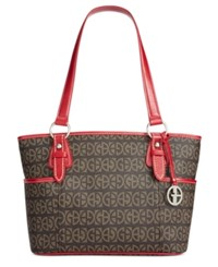 Giani Bernini Block Signature Tote Red