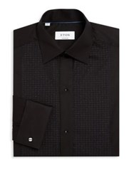 Eton Of Sweden Printed Dress Shirt Black