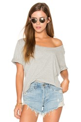 Three Dots Boxy Tee Gray
