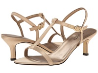 Rsvp Michele Champagne Satin Women's Dress Sandals Bone
