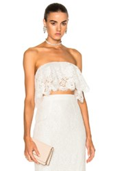 Houghton Jonesy Guipure Lace Ruffled Bandeau In White