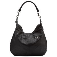 Liebeskind Pazia 6 Leather Vintage Shoulder Bag Black
