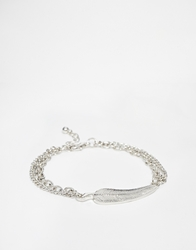 Asos Feather Bracelet Silver