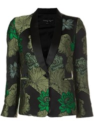 Christian Pellizzari Jacquard Smoking Jacket Black